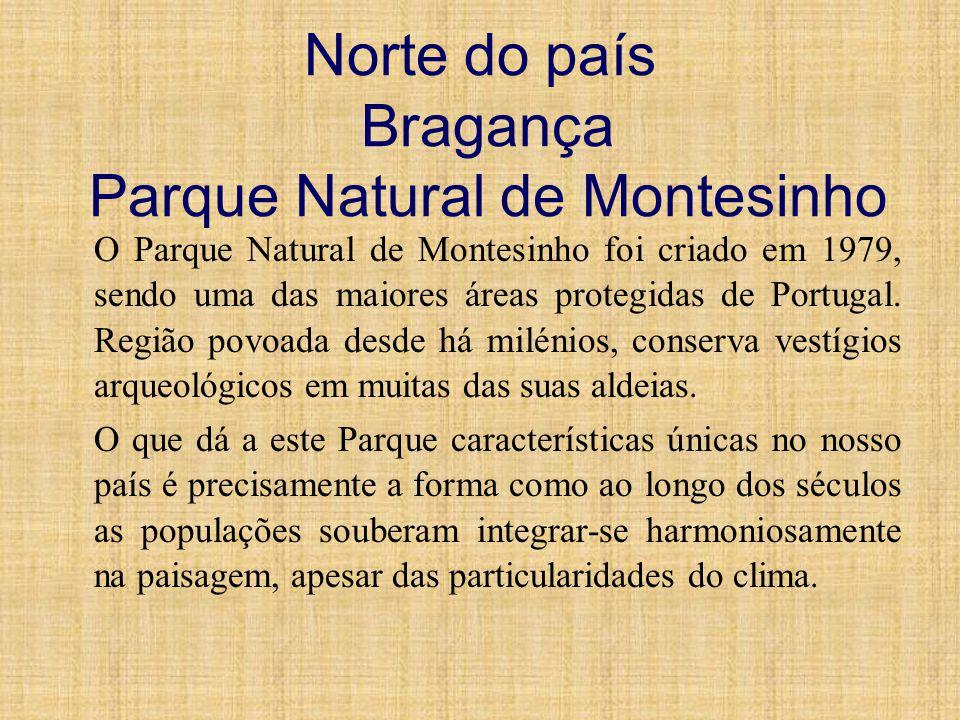 Norte do país Bragança Parque Natural de Montesinho O Parque Natural de Montesinho foi criado em 1979, sendo uma das maiores áreas protegidas de Portu