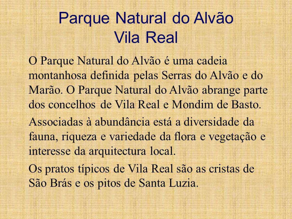 Parque Natural do Alvão Vila Real O Parque Natural do Alvão é uma cadeia montanhosa definida pelas Serras do Alvão e do Marão. O Parque Natural do Alv