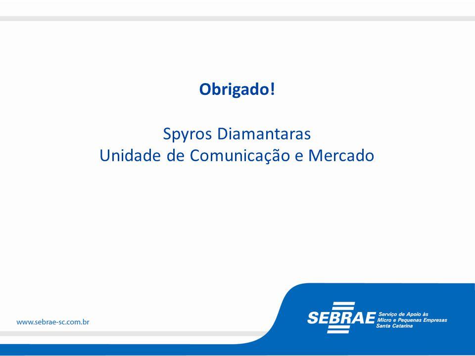 Obrigado! Spyros Diamantaras Unidade de Comunicação e Mercado