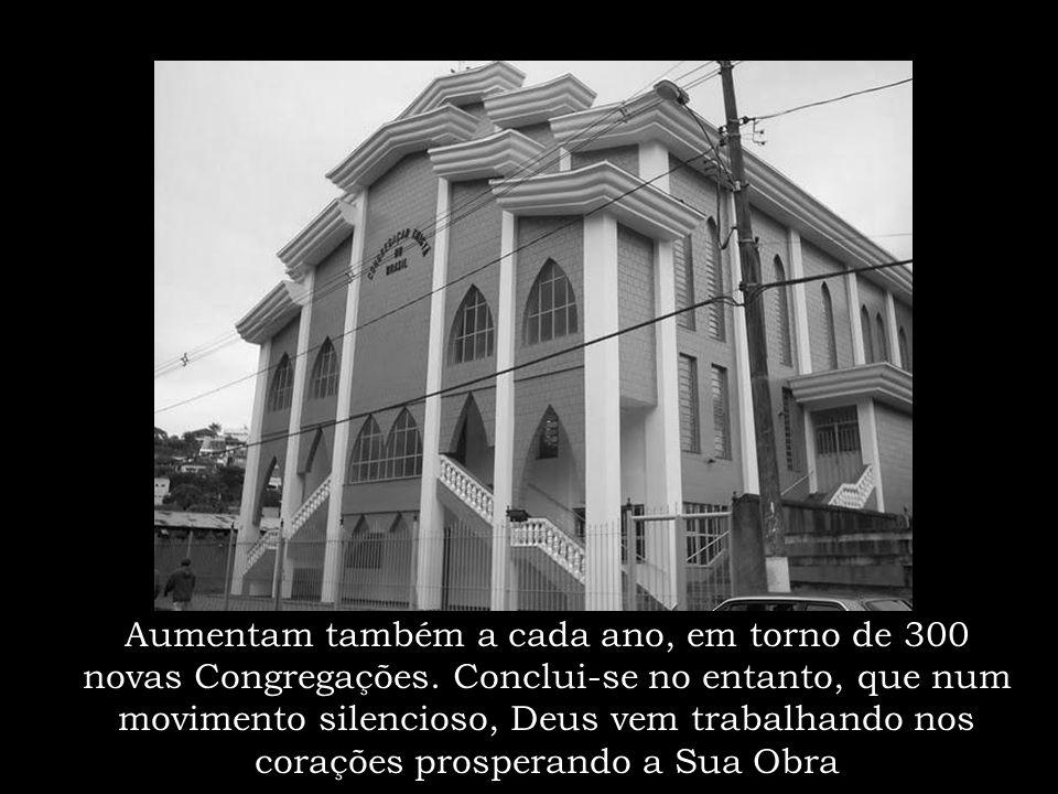 Podemos assim, contemplar o progresso e os frutos da Obra de Deus no Brasil, onde, nos últimos 5 anos, foram batizadas uma média de 101.000 pessoas po