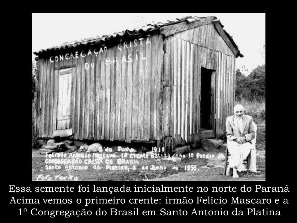 """...Foi quando o irmão Louis Francescon chegou ao Brasil enviado por Deus, trazendo consigo a preciosa """"semente"""" da Graça do nosso Senhor Jesus Cristo"""