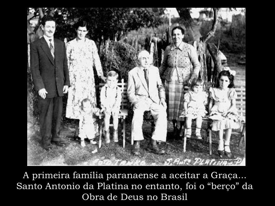 Essa semente foi lançada inicialmente no norte do Paraná Acima vemos o primeiro crente: irmão Felício Mascaro e a 1ª Congregação do Brasil em Santo An