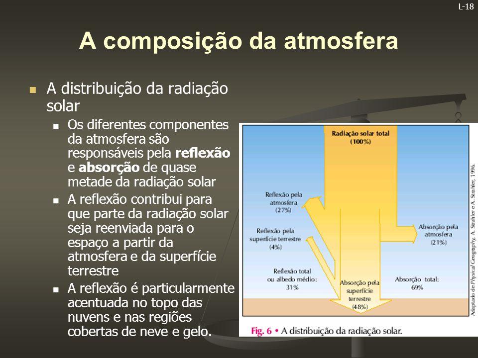 L-19 O AUMENTO DO EFEITO DE ESTUFA   A radiação solar que é absorvida pela superfície terrestre converte-se em energia calorífica   Porém, a Terra não pode acumular toda a energia calorífica que absorve diariamente, pois, se tal acontecesse, registar- se-ia um grande aumento das temperaturas