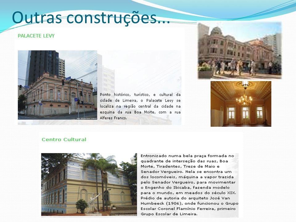 Construções.... Prédio da antiga Prada, atual sede da Prefeitura Fórum de Limeira Gruta, praça central