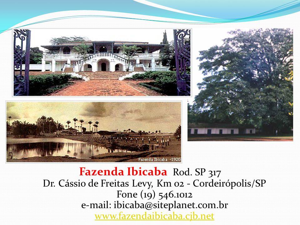 Turismo: Fazendas Históricas Fazenda Citra Rodovia Limeira-Piracicaba - Limeira/SP Fone (19) 3451.1221 e-mail: fazendacitra@limeira.com.br www.fazenda