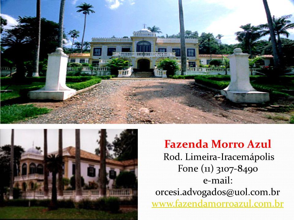 Fazenda Ibicaba Rod. SP 317 Dr. Cássio de Freitas Levy, Km 02 - Cordeirópolis/SP Fone (19) 546.1012 e-mail: ibicaba@siteplanet.com.br www.fazendaibica