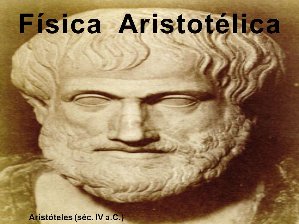 Física Aristotélica Aristóteles (séc. IV a.C.)