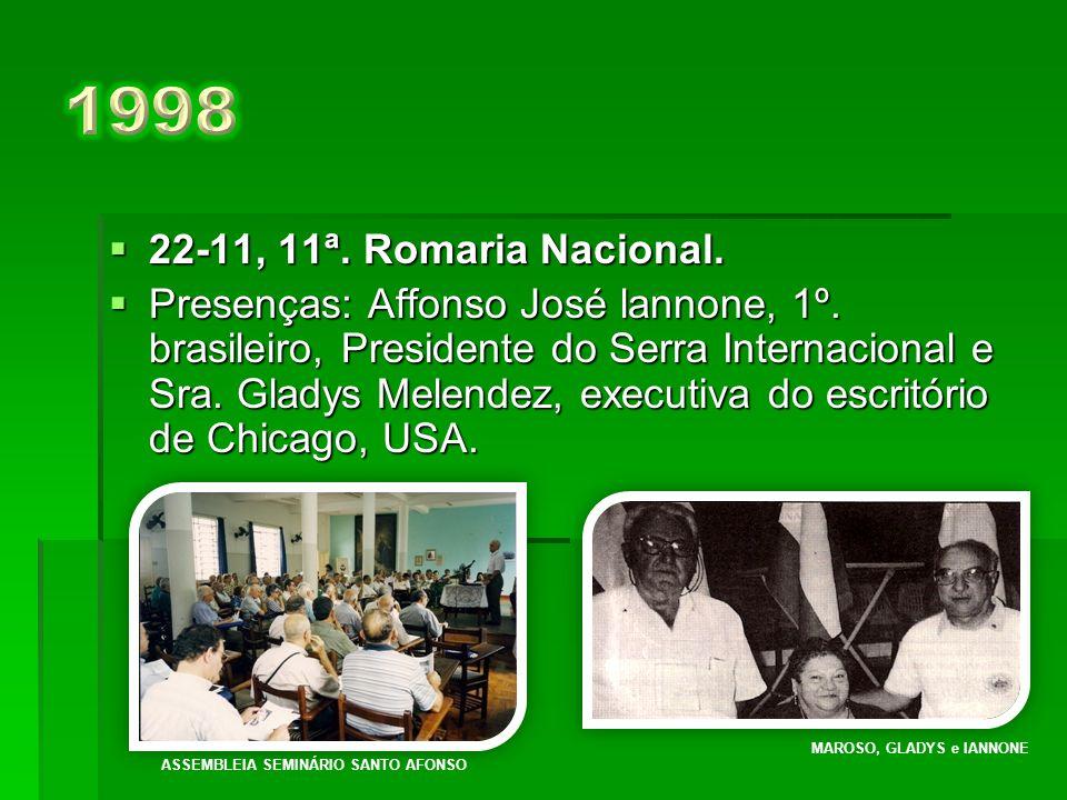  16-11, 10ª. Romaria Nacional.  Presentes: Presidente do SI Raymond e Christine F. Mohrman, de St. Louis, MO, USA. Pe. FABIANO KACHEL CHRISTINE e RA