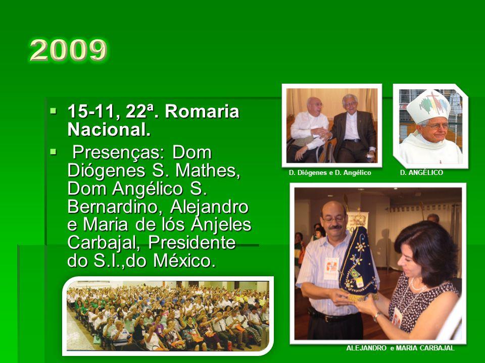 16-11, 21ª. Romaria Nacional.  Presenças: Dom Raymundo Damasceno, Professor Felipe Aquino e John (Tomi) Asenuga e Espôsa, Presidente do SI, da Nigé