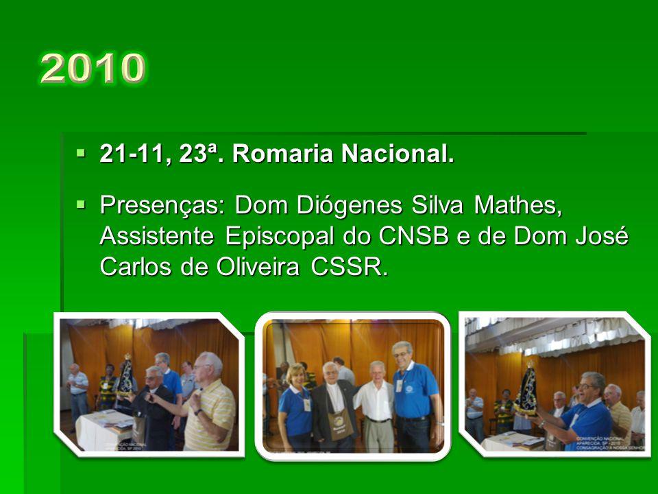  15-11, 22ª.Romaria Nacional.  Presenças: Dom Diógenes S.