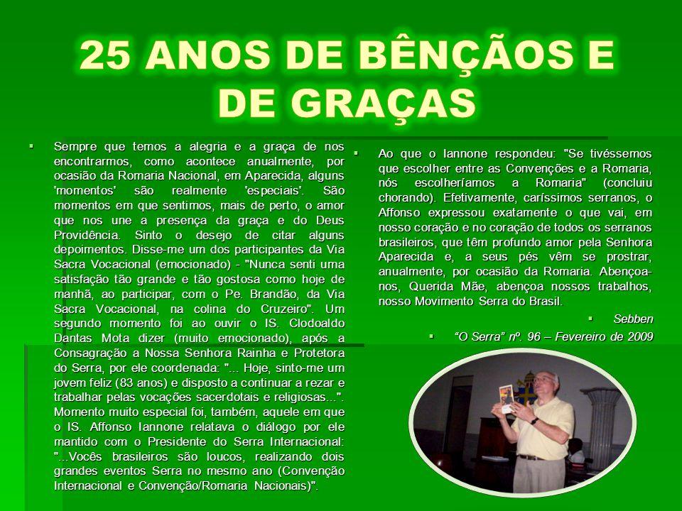 20-11, 24ª.Romaria Nacional.