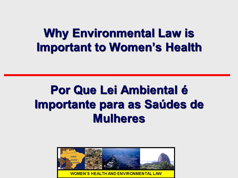 WOMEN'S HEALTH AND ENVIRONMENTAL LAW Why Environmental Law is Important to Women's Health Por Que Lei Ambiental é Importante para as Saúdes de Mulhere