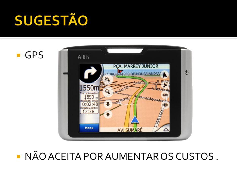  GPS  NÃO ACEITA POR AUMENTAR OS CUSTOS.