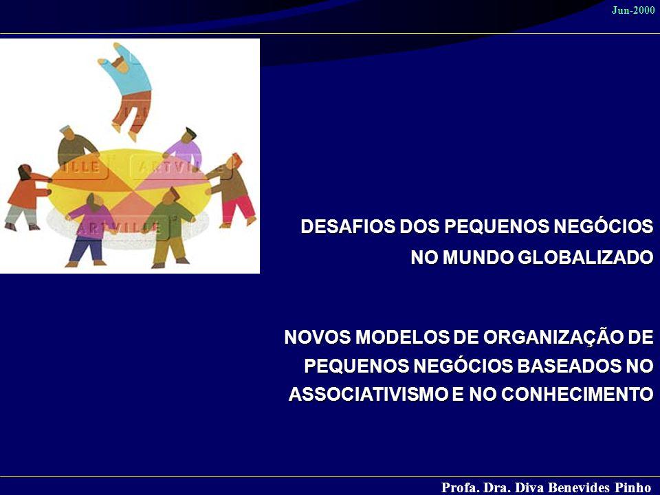 Profa. Dra. Diva Benevides Pinho Jun-2000 DESAFIOS DOS PEQUENOS NEGÓCIOS NO MUNDO GLOBALIZADO NOVOS MODELOS DE ORGANIZAÇÃO DE PEQUENOS NEGÓCIOS BASEAD