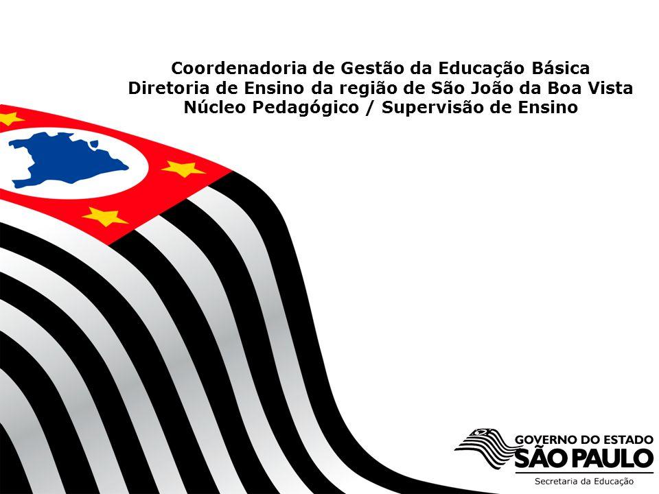 SECRETARIA DA EDUCAÇÃO Coordenadoria de Gestão da Educação Básica Coordenadoria de Gestão da Educação Básica Diretoria de Ensino da região de São João