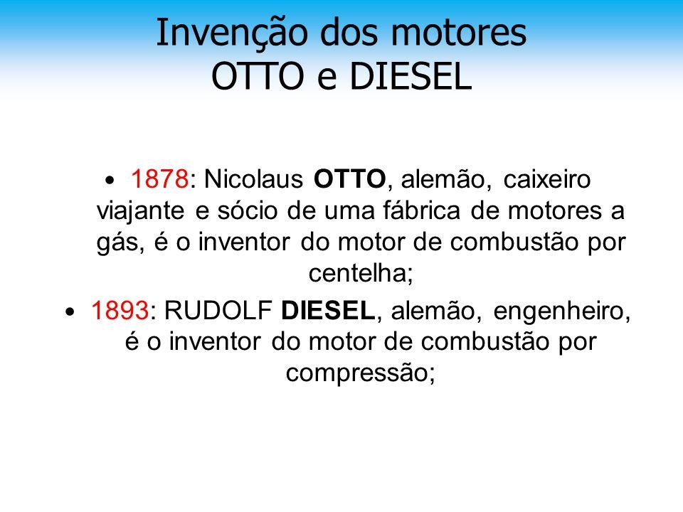 • 1878: Nicolaus OTTO, alemão, caixeiro viajante e sócio de uma fábrica de motores a gás, é o inventor do motor de combustão por centelha; • 1893: RUD