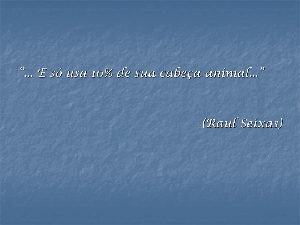 """""""... E só usa 10% de sua cabeça animal..."""" (Raul Seixas)"""