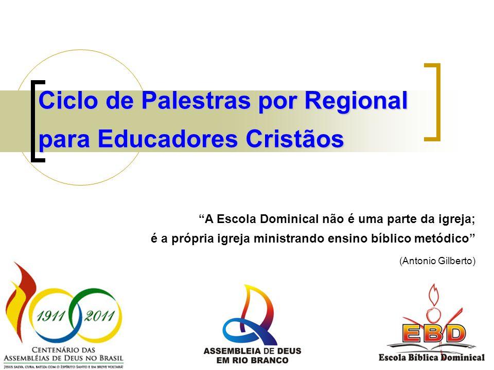 Temas – Data por Regional 23 ABR 25 JUN 23 JUL 24 SET 26 NOV Professor da Escola Dominical: chamado ou vocacionado.