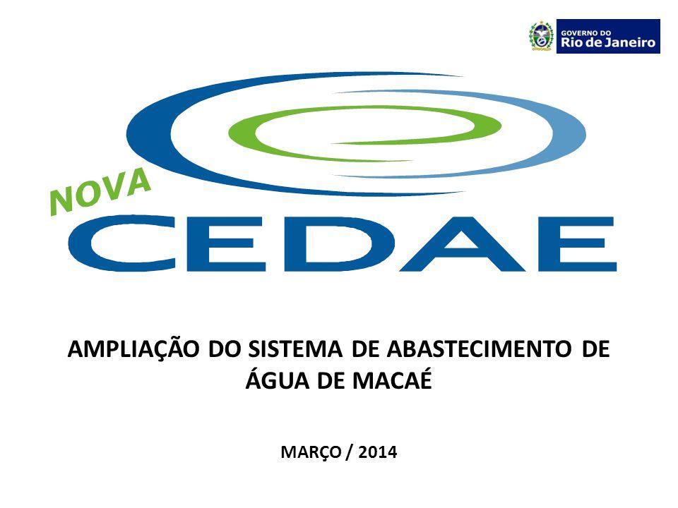 AMPLIAÇÃO DO SISTEMA DE ABASTECIMENTO DE ÁGUA DE MACAÉ Captação Reservação Tratamento Adução Distribuição Recalque 1