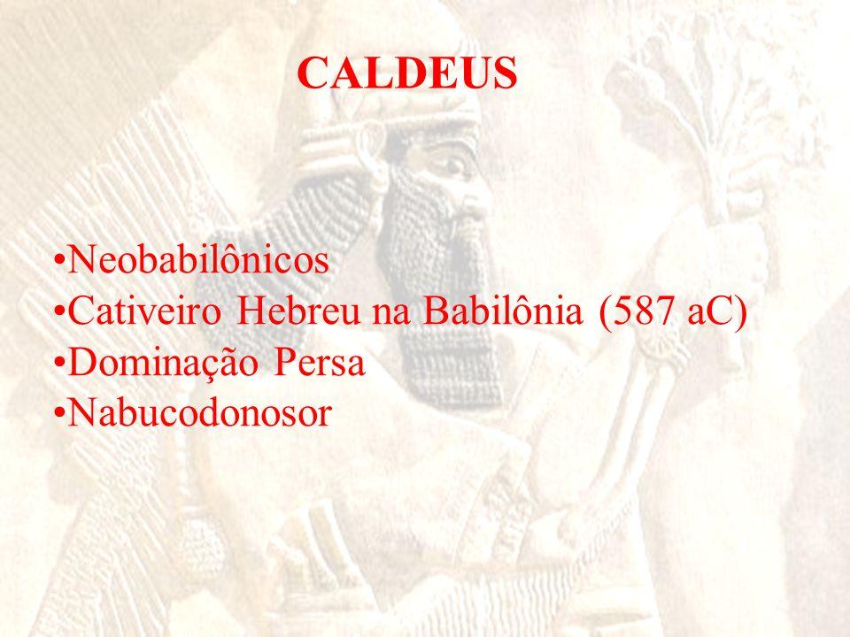 CALDEUS •Neobabilônicos •Cativeiro Hebreu na Babilônia (587 aC) •Dominação Persa •Nabucodonosor