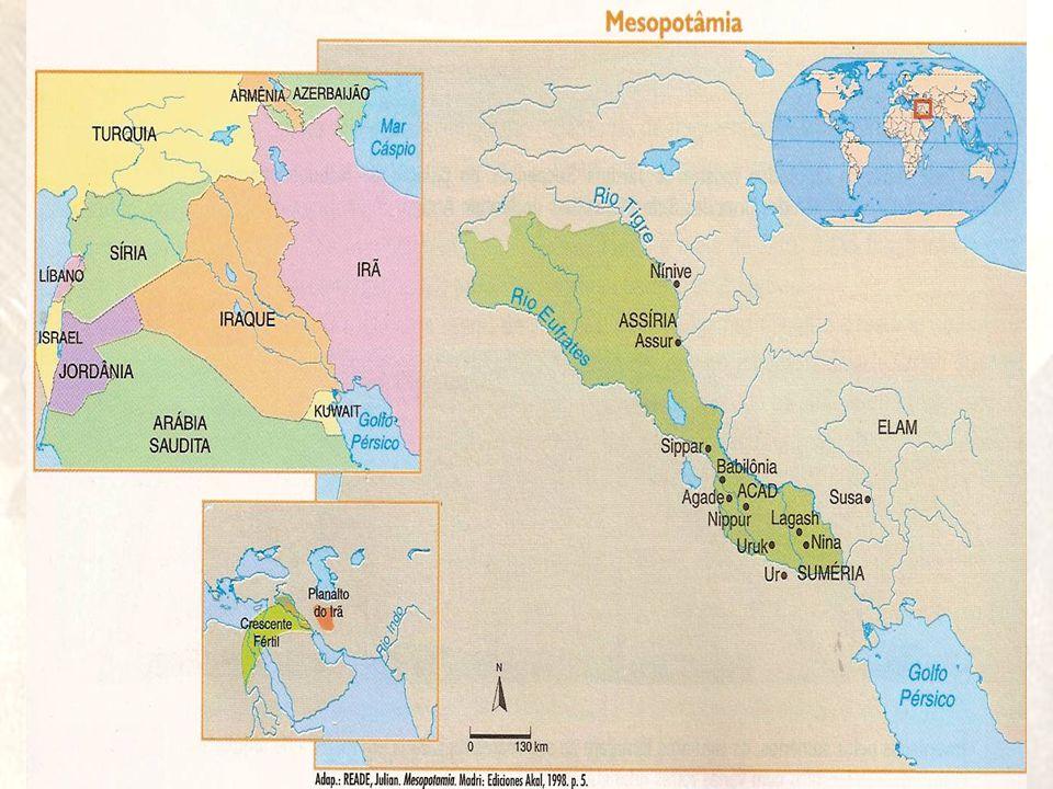 OCUPAÇÃO DA MESOPOTÂMIA •Na Antigüidade, diversos povos apossaram-se sucessivamente da mesopotâmia, geralmente por meio de guerras.