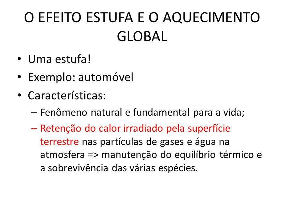 O EFEITO ESTUFA E O AQUECIMENTO GLOBAL • Uma estufa.