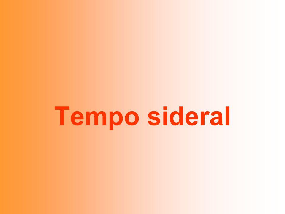 Tempo sideral
