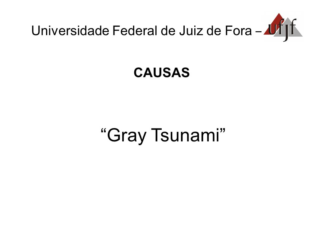 "Universidade Federal de Juiz de Fora – CAUSAS ""Gray Tsunami"""