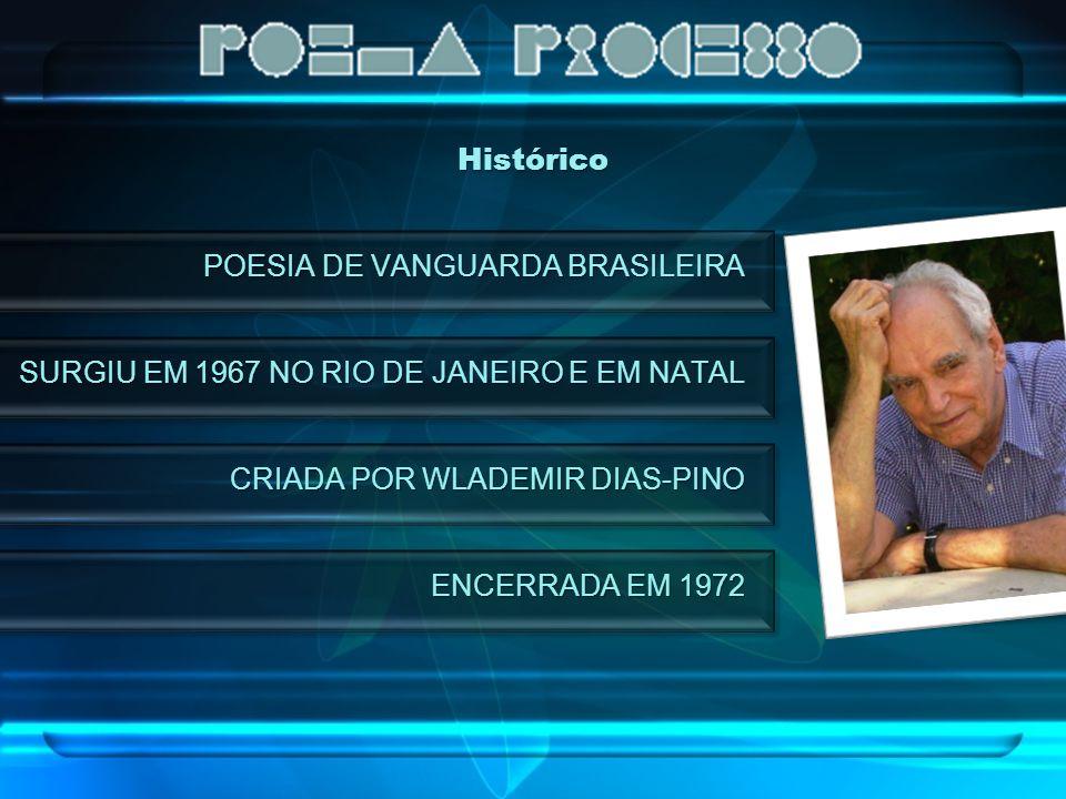 Histórico POESIA DE VANGUARDA BRASILEIRA SURGIU EM 1967 NO RIO DE JANEIRO E EM NATAL CRIADA POR WLADEMIR DIAS-PINO ENCERRADA EM 1972