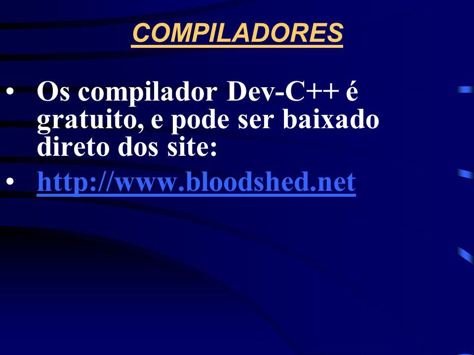 BIBLIOGRAFIA COMPLEMENTAR •Kernighan, Brian W. e Ritchie, Dennis. The C Programming Language. 2ª ed., New Jersey, Prentice Hall PTR, 1988. •Apostila:
