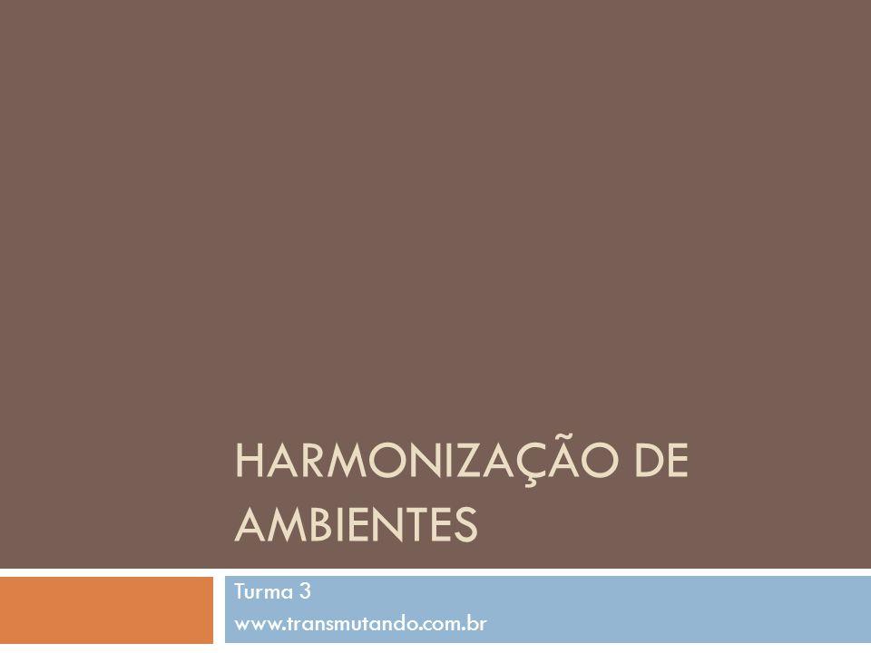 HARMONIZAÇÃO DE AMBIENTES Turma 3 www.transmutando.com.br
