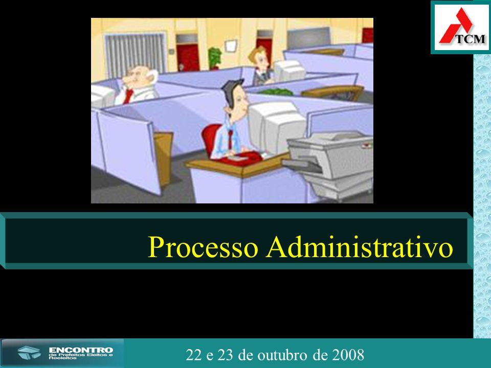 JSSdato22 de outubro de 2008 22 e 23 de outubro de 2008 Processo Administrativo