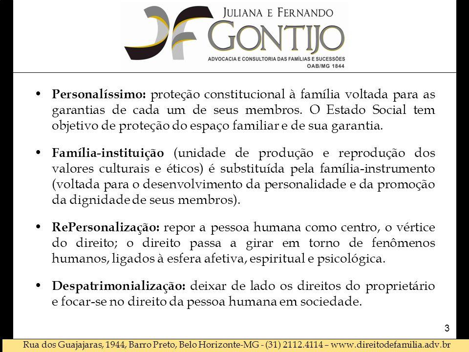 Rua dos Guajajaras, 1944, Barro Preto, Belo Horizonte-MG - (31) 2112.4114 – www.direitodefamilia.adv.br • Personalíssimo: proteção constitucional à fa