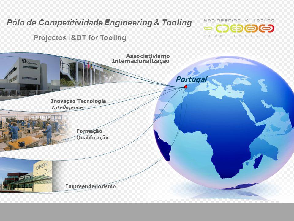 Inovação Tecnologia Intelligence Empreendedorismo Associativismo Internacionalização Formação Qualificação Portugal Pólo de Competitividade Engineering & Tooling Projectos I&DT for Tooling