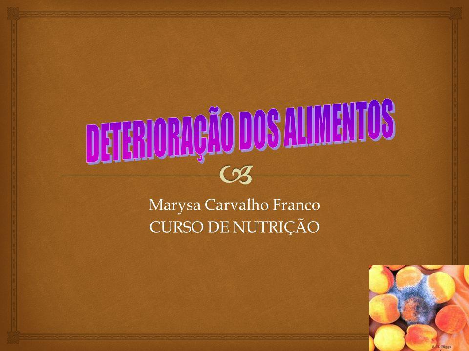 Marysa Carvalho Franco CURSO DE NUTRIÇÃO