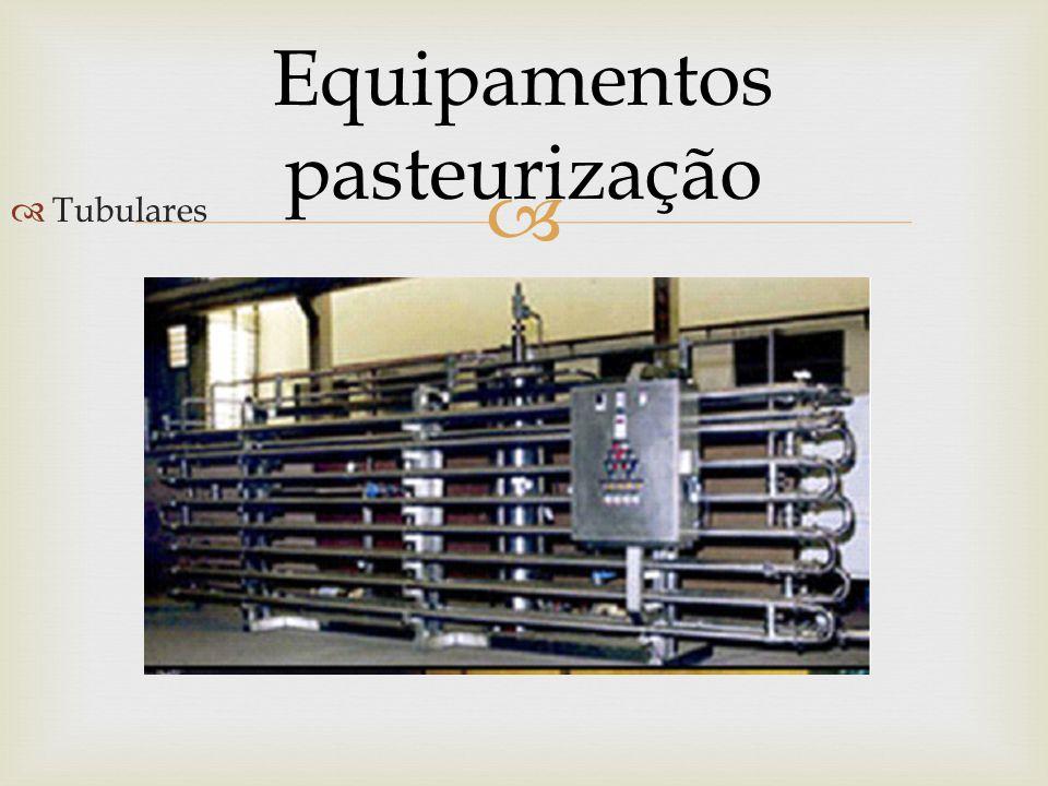  Equipamentos pasteurização  Tubulares