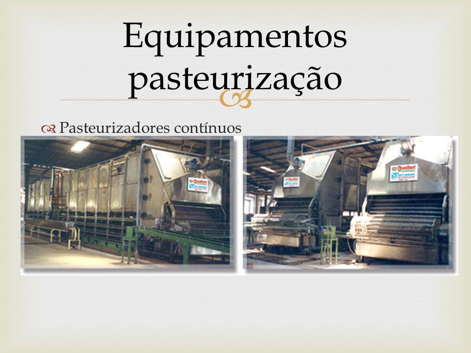   Pasteurizadores contínuos Equipamentos pasteurização