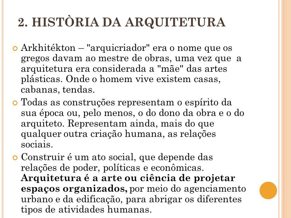 2. HISTÒRIA DA ARQUITETURA Arkhitékton –