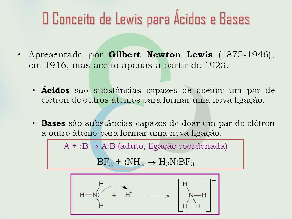 • Apresentado por Gilbert Newton Lewis (1875-1946), em 1916, mas aceito apenas a partir de 1923.