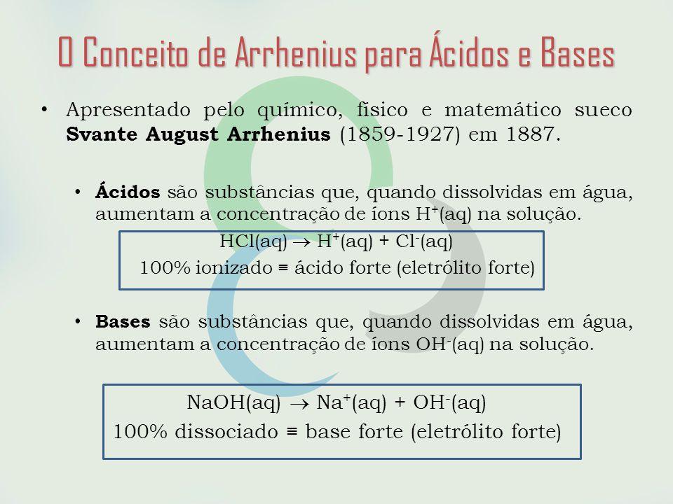 • Apresentado pelo químico, físico e matemático sueco Svante August Arrhenius (1859-1927) em 1887.