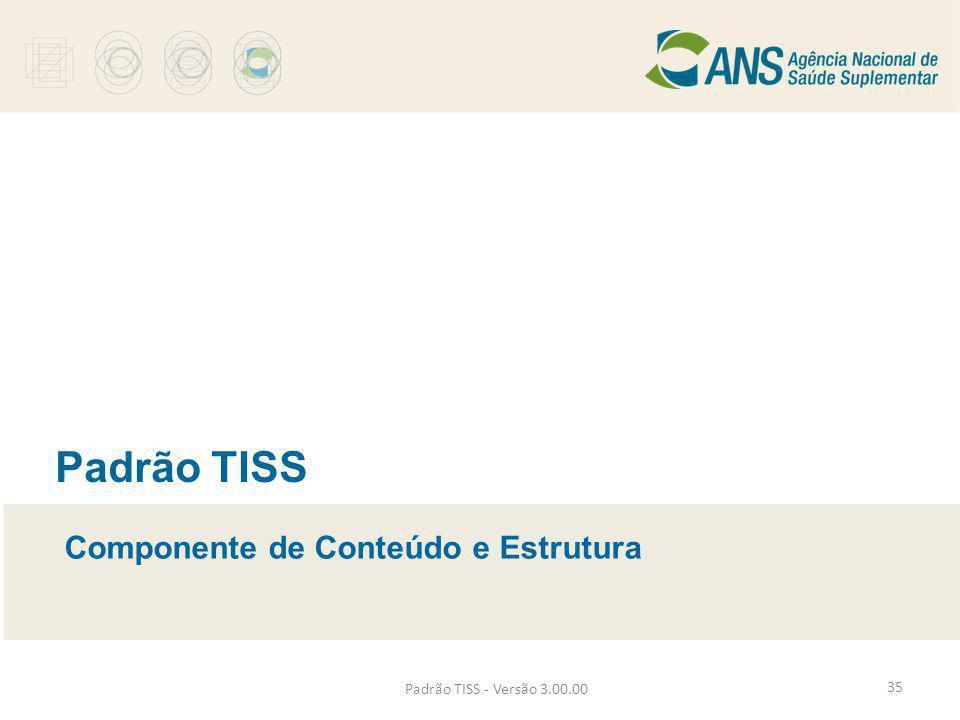 Padrão TISS - Versão 3.00.00 Padrão TISS Componente de Conteúdo e Estrutura 35