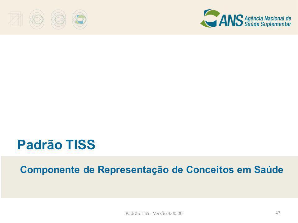 Padrão TISS - Versão 3.00.00 Padrão TISS Componente de Representação de Conceitos em Saúde 47