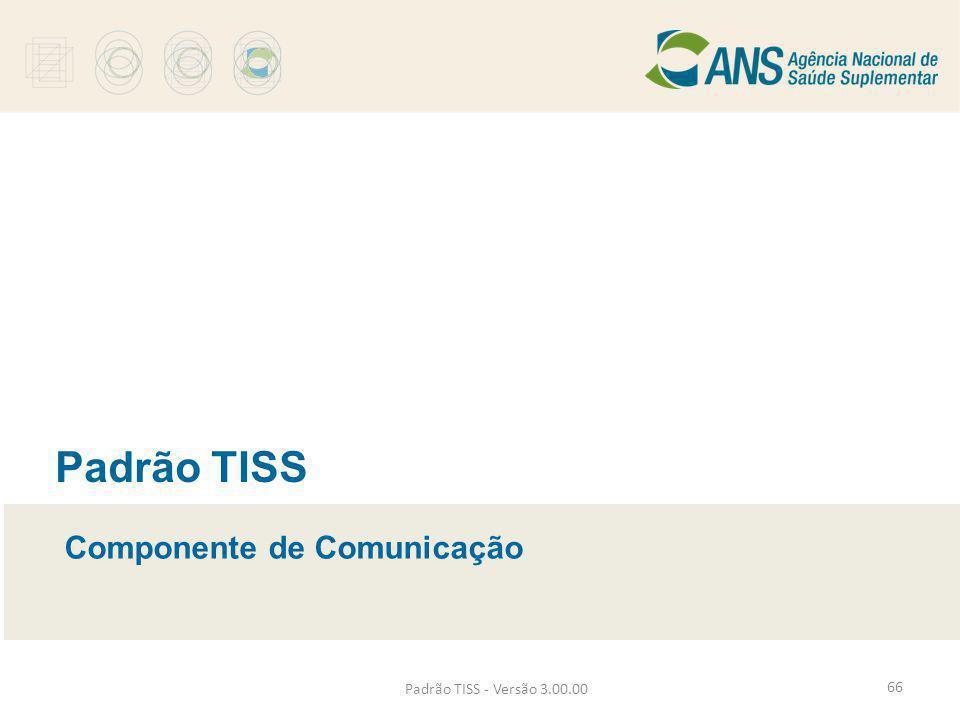 Padrão TISS - Versão 3.00.00 Padrão TISS Componente de Comunicação 66