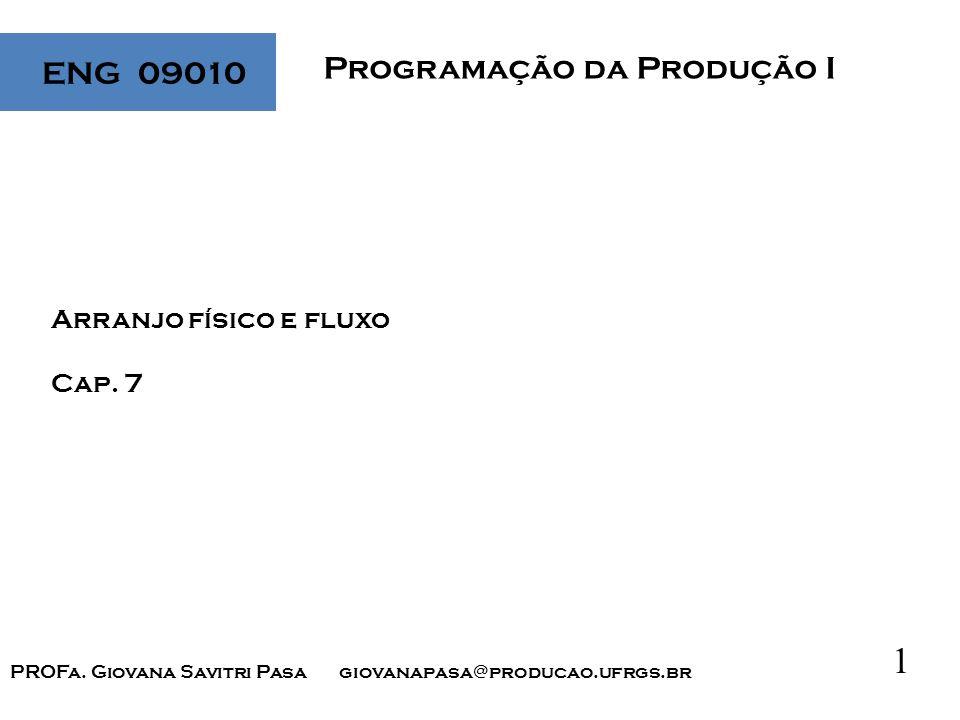 1 Programação da Produção I ENG 09010 Arranjo físico e fluxo Cap.