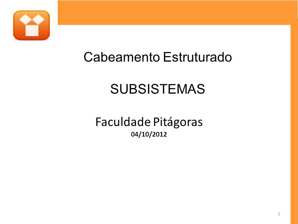 Faculdade Pitágoras 04/10/2012 Cabeamento Estruturado SUBSISTEMAS 1