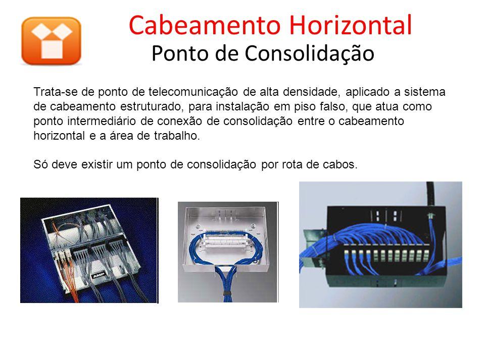 Trata-se de ponto de telecomunicação de alta densidade, aplicado a sistema de cabeamento estruturado, para instalação em piso falso, que atua como ponto intermediário de conexão de consolidação entre o cabeamento horizontal e a área de trabalho.