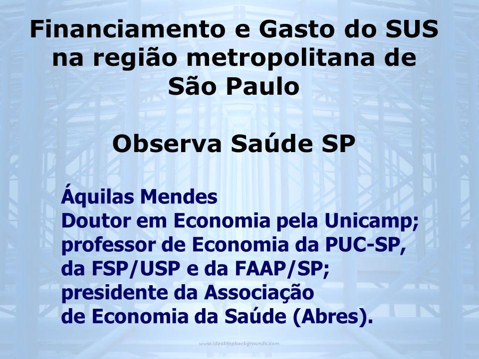 Áquilas Mendes Doutor em Economia pela Unicamp; professor de Economia da PUC-SP, da FSP/USP e da FAAP/SP; presidente da Associação de Economia da Saúd