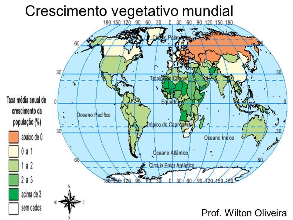 Prof. Wilton Oliveira Crescimento vegetativo mundial