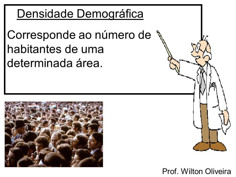 Densidade Demográfica Corresponde ao número de habitantes de uma determinada área.
