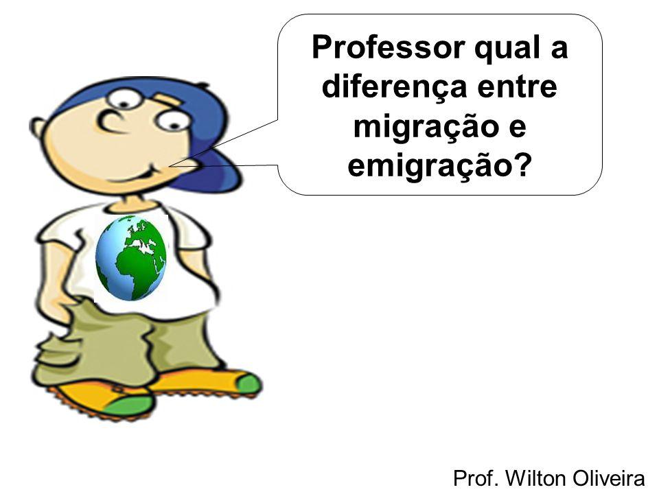 Prof. Wilton Oliveira Professor qual a diferença entre migração e emigração?